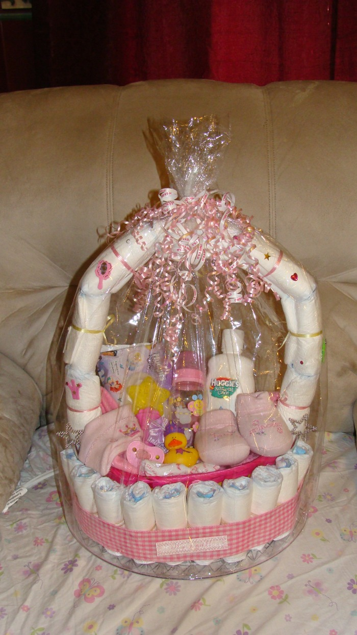 These One Of A Kind Diaper Cake Baskets Start At Low 30 For The Small Size Pink 45 Medium Blue And 60 Large Brown Just